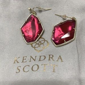 Kendra Scott cranberry earrings